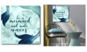 """Courtside Market Mermaid Quotes I 16"""" x 16"""" Gallery-Wrapped Canvas Wall Art"""