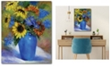 """Courtside Market Sunflowers in Vase II 16"""" x 20"""" Gallery-Wrapped Canvas Wall Art"""