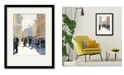 """Courtside Market Street Fair Paris 16"""" x 20"""" Framed and Matted Art"""