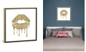 """iCanvas Gold Kiss Mark Drips, Square by Amanda Greenwood Gallery-Wrapped Canvas Print - 18"""" x 18"""" x 0.75"""""""