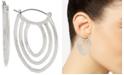 """Robert Lee Morris Soho Medium Silver-Tone Sculptural Multi-Row Hoop Earrings 1-3/4"""""""