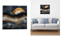 """iCanvas Metallic Mountains by Spacefrog Designs Gallery-Wrapped Canvas Print - 18"""" x 18"""" x 0.75"""""""