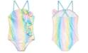 Sol Swimwear Little Girls 1-Pc. Mermaid Glamour Swimsuit