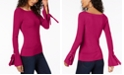 INC International Concepts INC Boat-Neck Tie-Sleeve Top, Created for Macy's
