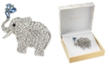 Charter Club Silver-Tone Crystal Elephant Pin, Created for Macy's