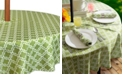 """Design Imports Lattice Outdoor Tablecloth with Zipper 60"""" Round"""