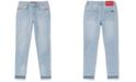 Calvin Klein Big Girls Rainbow-Embroidered Skinny Jeans