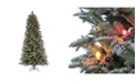 Sterling 7.5-Foot High Natural Cut Pre-Lit Lightly Flocked Smoky Mountain Pine Tree with Pine Cone Accents