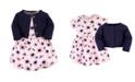 Touched by Nature Organic Cotton Dress and Cardigan Set, Blossoms, 2 Toddler