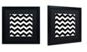 "Trademark Global Color Bakery 'Xmas Chevron 6' Matted Framed Art - 16"" x 16"""