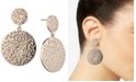 Givenchy Gold-Tone Pavé Disc Double Drop Earrings