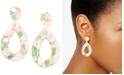 Zenzii Patterned Acetate Teardrop Drop Earrings