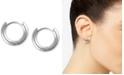 """Lucky Brand Extra Small Silver-Tone Mini Hoop Earrings 2/5"""""""