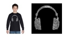 LA Pop Art Boy's Word Art Long Sleeve T-Shirt - 63 Different Genres of Music