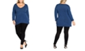 City Chic Trendy Plus Size V-Neck Soft Sweater