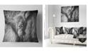 "Design Art Designart Young Orangutan Black Abstract Throw Pillow - 16"" X 16"""