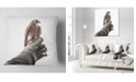 "Design Art Designart Kestrel Sitting On Falconer Hand Abstract Throw Pillow - 16"" X 16"""