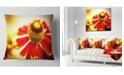 """Design Art Designart Beautiful Flower On Yellow Background Flower Throw Pillow - 18"""" X 18"""""""