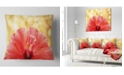 "Design Art Designart Hibiscus Flower With Lit Up Background Floral Throw Pillow - 18"" X 18"""