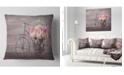 "Design Art Designart Ranunculus Flowers On Bicycle Floral Throw Pillow - 16"" X 16"""