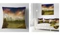 "Design Art Designart Grand Teton National Park Landscape Printed Throw Pillow - 16"" X 16"""