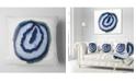 "Design Art Designart Slice Of Beautiful Blue Agate Abstract Throw Pillow - 16"" X 16"""