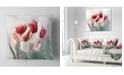 "Design Art Designart Floral Watercolor Illustration Animal Throw Pillow - 16"" X 16"""