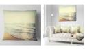 """Design Art Designart Bright Seashore During Sunset Seashore Throw Pillow - 18"""" X 18"""""""