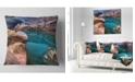 "Design Art Designart Deep Glacier Cave In Blue Landscape Printed Throw Pillow - 18"" X 18"""