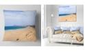 "Design Art Designart Sea And Clouds In Blue Sky Seashore Throw Pillow - 16"" X 16"""