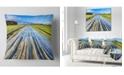 "Design Art Designart Muddy Sand Lane On Sunny Day Landscape Printed Throw Pillow - 18"" X 18"""