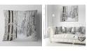 """Design Art Designart Dense Winter Forest And Lane Forest Throw Pillow - 16"""" X 16"""""""