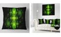 """Design Art Designart Cabalistic Green Fractal Design Abstract Throw Pillow - 16"""" X 16"""""""