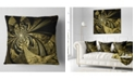 "Design Art Designart Colorful Fractal Flower Pattern Abstract Throw Pillow - 16"" X 16"""