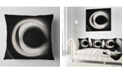 "Design Art Designart Fractal White On Black Background Abstract Throw Pillow - 16"" X 16"""