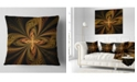 "Design Art Designart Colorful Fractal Flower Pattern Contemporary Throw Pillow - 18"" X 18"""