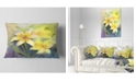"Design Art Designart Watercolor Painting Yellow Lily Flower Floral Throw Pillow - 12"" X 20"""