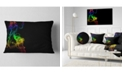 "Design Art Designart Colorful Abstract Smoke Waves Abstract Throw Pillow - 12"" X 20"""