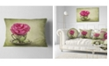 """Design Art Designart Red Rose In Cup And Saucer Floral Throw Pillow - 12"""" X 20"""""""