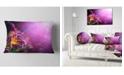 "Design Art Designart Flowers On Purple Background Floral Throw Pillow - 12"" X 20"""