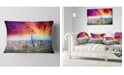 "Design Art Designart Colorful New York Skyline Aerial View Modern Cityscape Throw Pillow - 12"" X 20"""