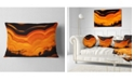 "Design Art Designart Agate Macro Orange Abstract Throw Pillow - 12"" X 20"""