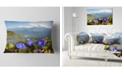 "Design Art Designart Stunning Mountain Terrain With Flowers Landscape Printed Throw Pillow - 12"" X 20"""