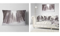 "Design Art Designart Winter Scenery In Trentino Alto Adige Forest Throw Pillow - 12"" X 20"""