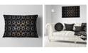 """Design Art Designart Yellow Pattern Of Butterflies Abstract Throw Pillow - 12"""" X 20"""""""
