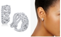 Eliot Danori Silver-Tone Cubic Zirconia Clip-On Earrings, Created For Macy's