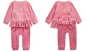 First Impressions Baby Girls 2-Pc. Ruffle Top & Jogger Pants Set, Created For Macy's