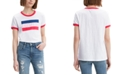 Levi's Women's Cotton Logo Ringer T-Shirt