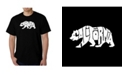 LA Pop Art Men's Word Art T-Shirt - California Bear