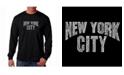 LA Pop Art Men's Word Art Long Sleeve T-Shirt- New York City Neighborhoods
